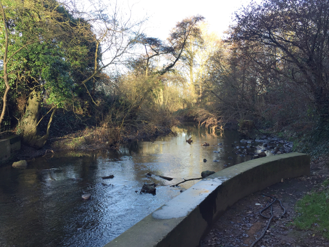 River Sowe beneath Sowe Viaduct, southeast Coventry