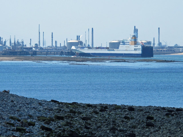 View from South Gare towards Tees Port