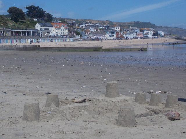 Lyme Regis: a sandcastle in progress
