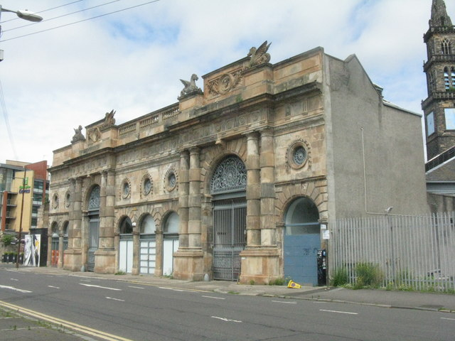 Façade of the Briggait on Clyde Street