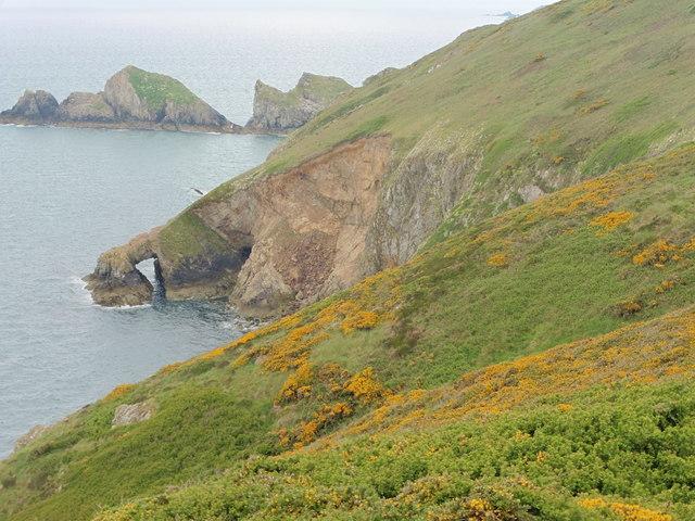 The Pembrokeshire Coast Path near Ogof Felen