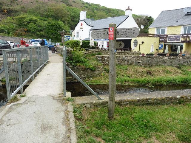 The Pembrokeshire Coast Path at Solva