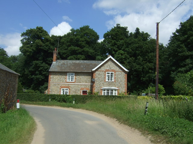 House on the corner, Beachamwell