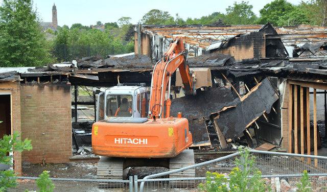 Former Joss Cardwell Centre (demolition), Belfast - June 2017(1)