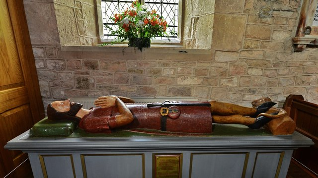 Much Marcle, St. Bartholomew's Church: The rare oak effigy of Walter de Helyon c1360