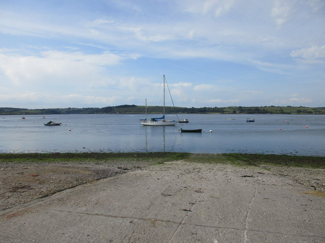 Slipway and the River Blackwater at Ferry Point