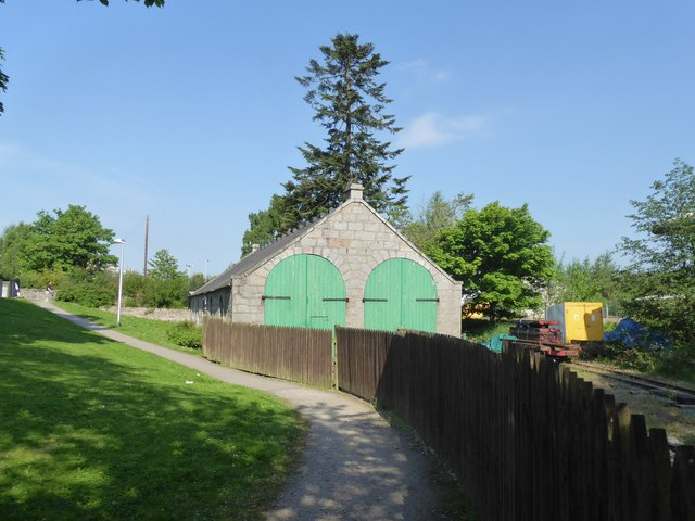 Old carriage shed, Alford Valley Railway