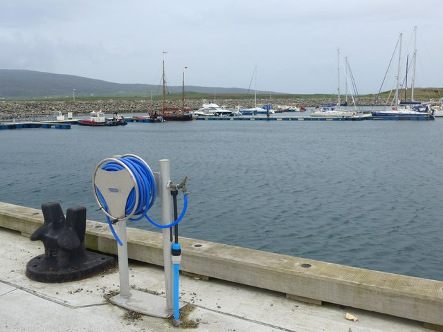 New pontoons at Lochboisdale