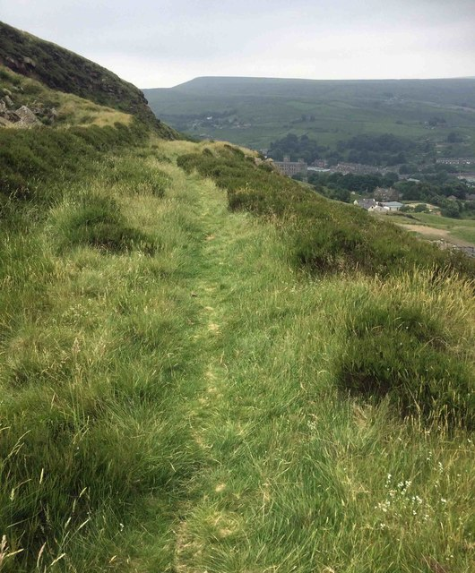 Moorland footpath above Marsden
