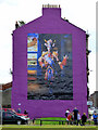 NS5964 : Billy Connolly mural on the Gallowgate by Thomas Nugent