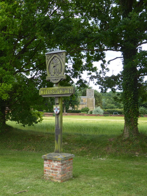 Village sign, Chelsworth