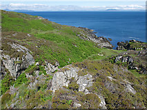 NR4299 : Rugged terrain beside the east coast of Colonsay by Julian Paren