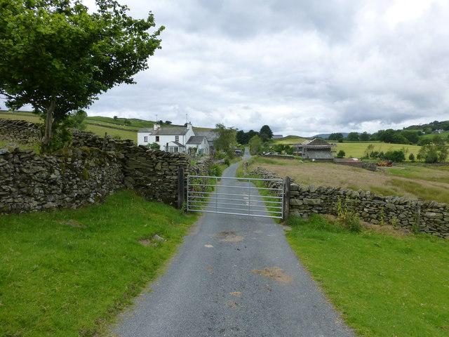 Gate on road past Littlewood Farm