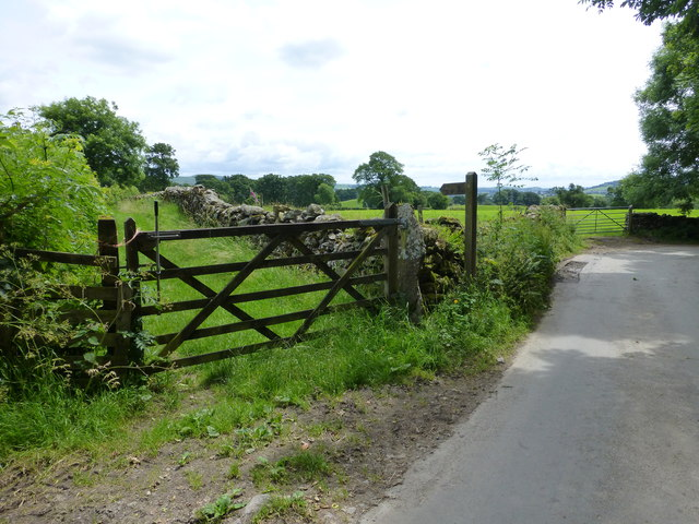 Gate onto Carlbank Lane