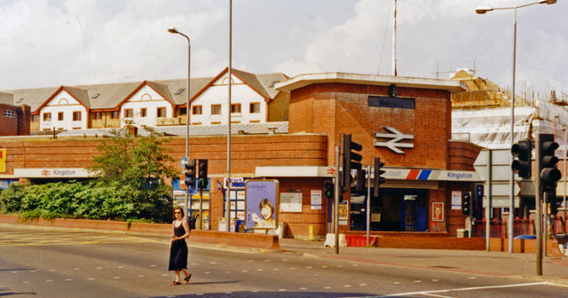 Kingston-on-Thames station, entrance 1997