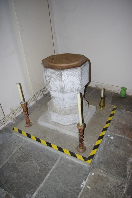 Font in St Mary Magdalene's Church