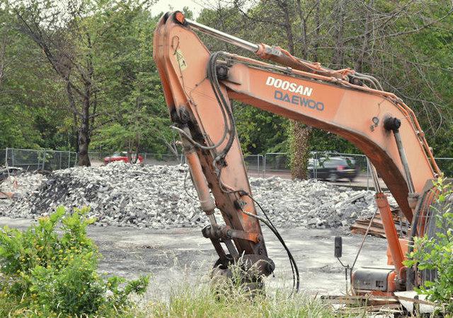Former Joss Cardwell Centre (demolition), Belfast (July 2017)