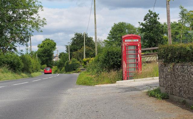 Telephone Call Box near Hilltown