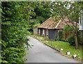 SU9287 : Old farm outbuildings (?), Green Common Lane (1) by Stefan Czapski