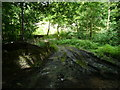 SE0627 : Riding Lane approaching the bridge over Hebble Brook by Humphrey Bolton