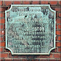 TQ3489 : Plaque on the Ferry Lane bridge over the River Lea (or Lee) by Mike Quinn