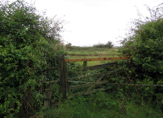 Stile and gate into Wysall Road