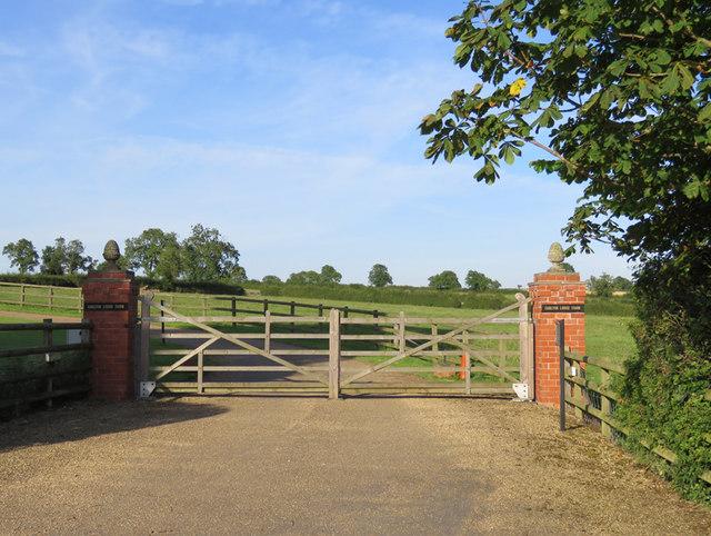 Quorn Lodge Farm entrance