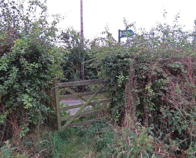 Footpath from Wartnaby reaches Ostler Lane