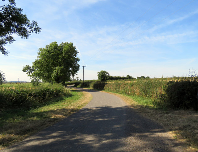 Gaddesby Lane towards Frisby on the Wreake