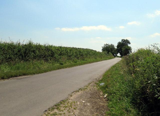 Pasture Lane North towards Gaddesby