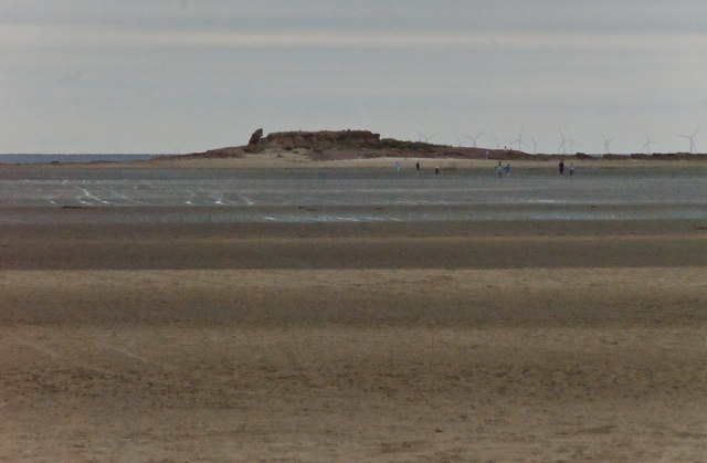 Looking across the sand towards Little Eye