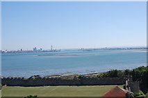 SU6203 : Portsmouth Harbour from Portchester Castle (2016) by Barry Shimmon