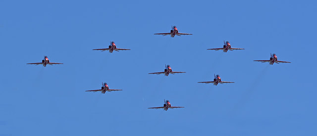 Red Arrows Diamond Nine Approach