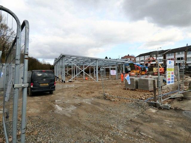 Construction site entrance