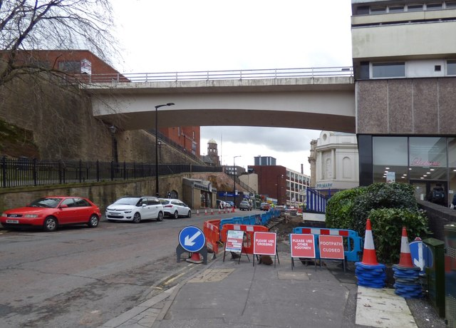 Footpath closure on Chestergate