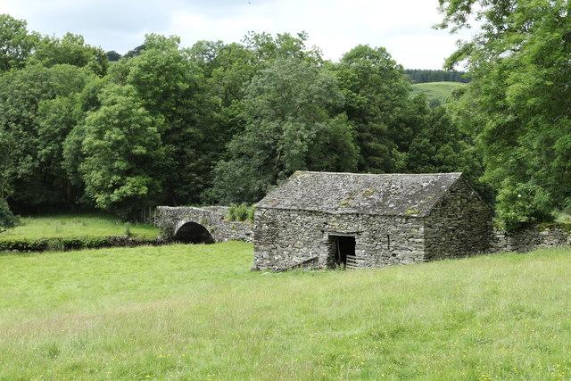 Barn near Ulthwaite Bridge