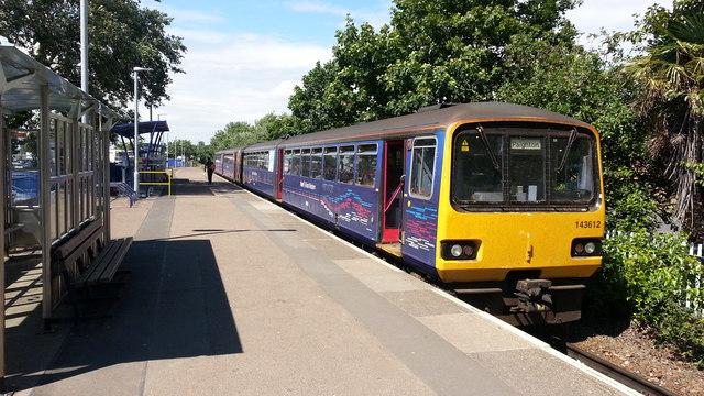 Exmouth station platform