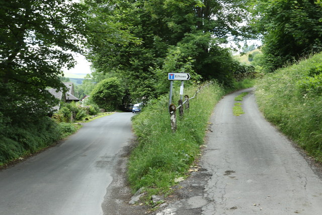 Elphowe Lane branches off the main road