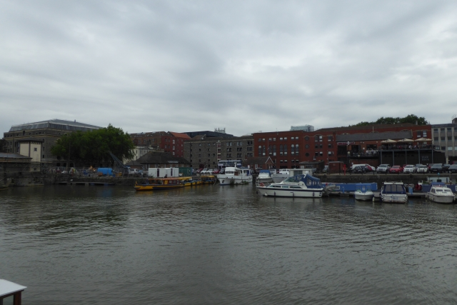 Across the floating harbour