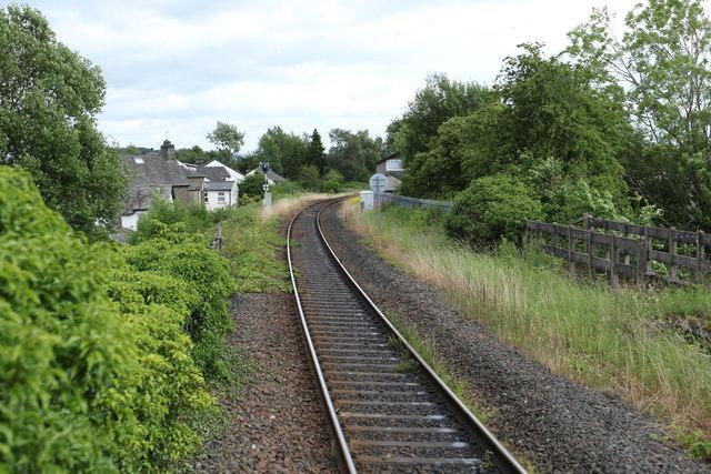 Railway leading to Kendal