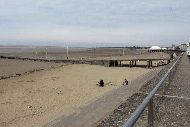 Slipway and beach, Burnham-on-Sea