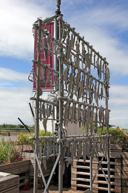 Sculpture at Marriott's Warehouse, South Quay, King's Lynn