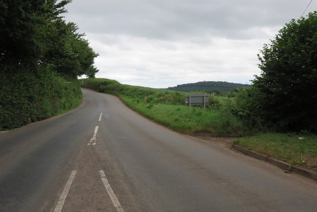 Silverton - the road east from the village