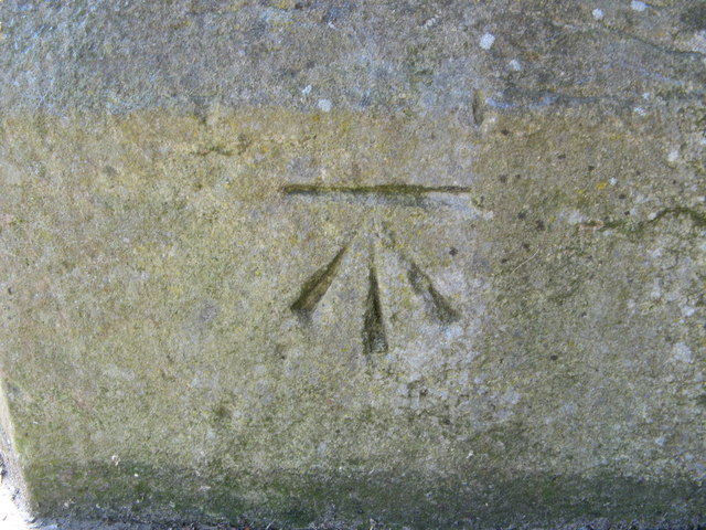 OS Cut Benchmark, Undercliffe Cemetery, Otley Road Entrance
