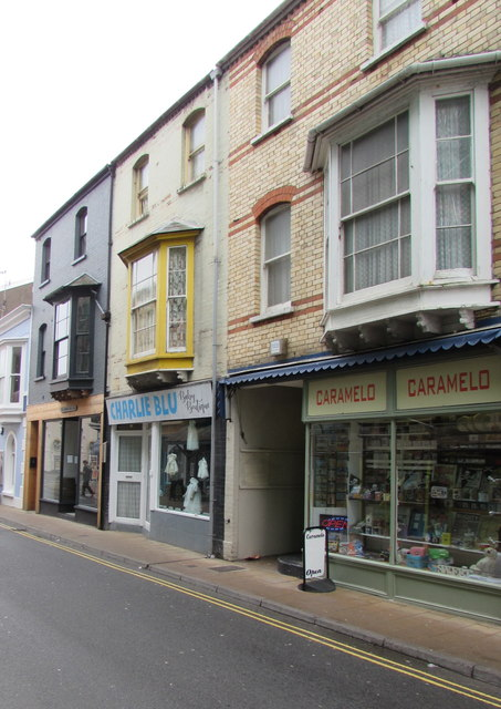 Caramelo and Charlie Blu, St James Place, Ilfracombe