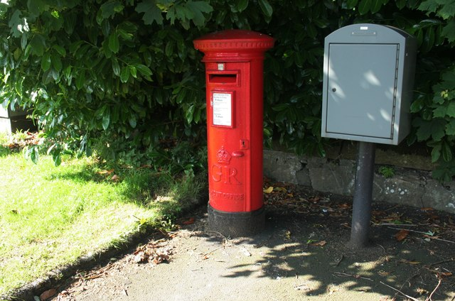 George V pillar box, Glasgow Road