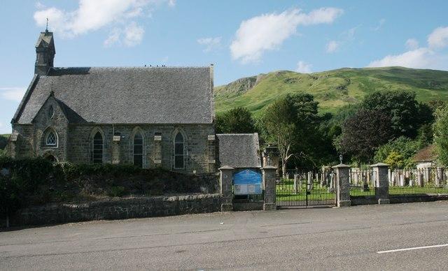 Strathblane Parish Church and churchyard