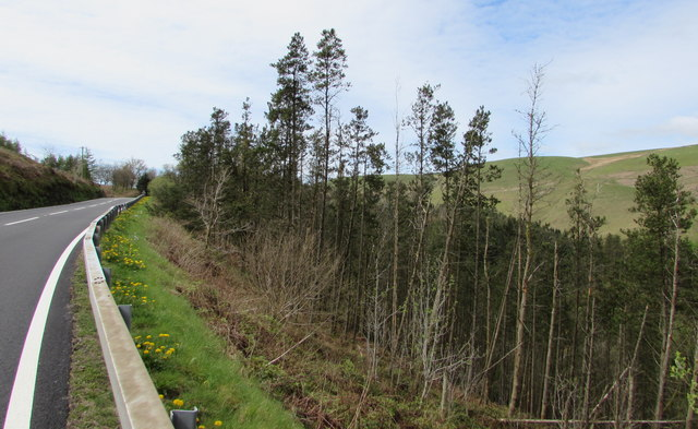 Steep descent into a river valley near Sugar Loaf