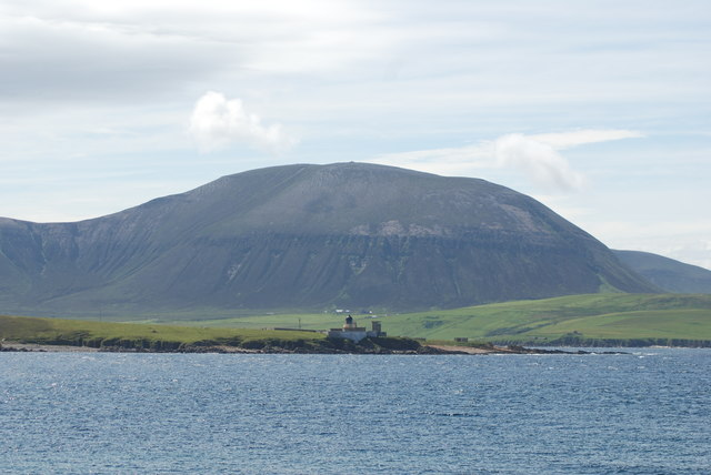 Passing Graemsay and the Lighthouse on the way to Hoy
