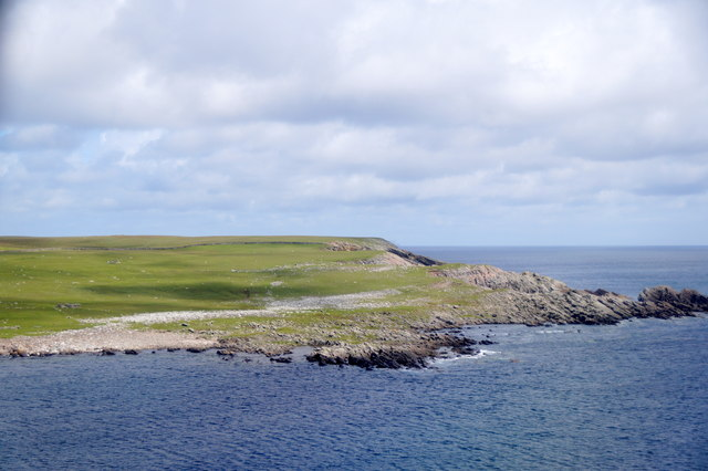 Point of Tangpool, Virkie, from the air